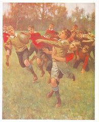 Father's Day Greeting Card - Vintage Football - Hampton Court Essential Luxuries