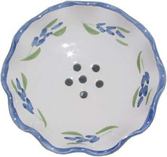 French Faience Soap Dish - Round French Lavender - Hampton Court Essential Luxuries