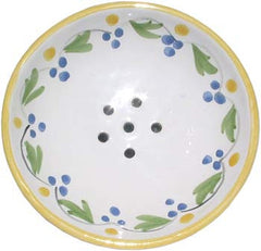 French Faience Soap Dish - Round French Yellow - Hampton Court Essential Luxuries