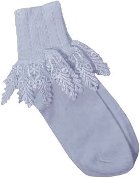 Catherine Cole Studio Lace Cuff Sock - Chambray
