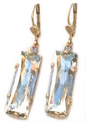 La Vie Parisienne Rectangle Crystal Earring