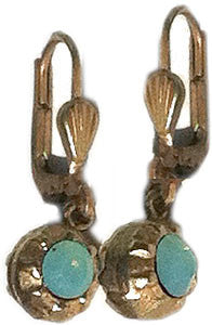 La Vie Parisienne Tiny Rhinestone Ball Earring - Pacific Opal