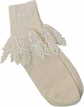 Catherine Cole Studio Lace Cuff Sock - Cafe Creme