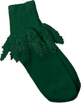 Catherine Cole Studio Lace Cuff Sock - Hunter Green