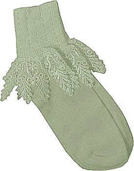 Catherine Cole Studio Lace Cuff Sock - Leaf