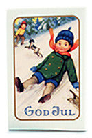 Victoria Scandinavian Merry Christmas Soap - Sledding Boy