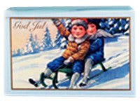 Victoria Scandinavian Merry Christmas Soap - Sleighing Children