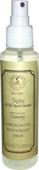 Taylor of Old Bond Street Sandalwood Luxury Deodorant Spray