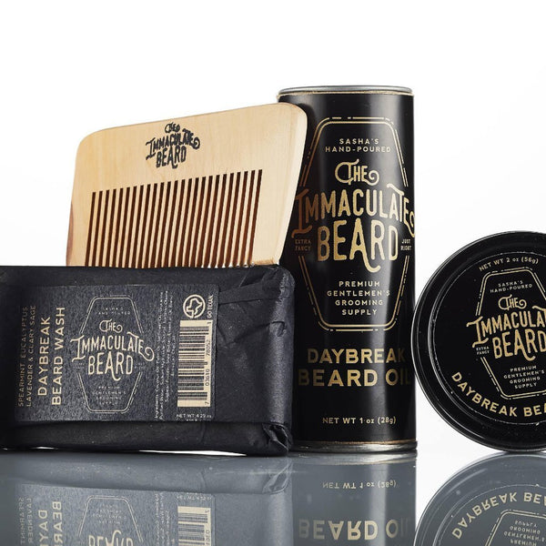 The Immaculate Beard - Beard Grooming Gift Set - DARK