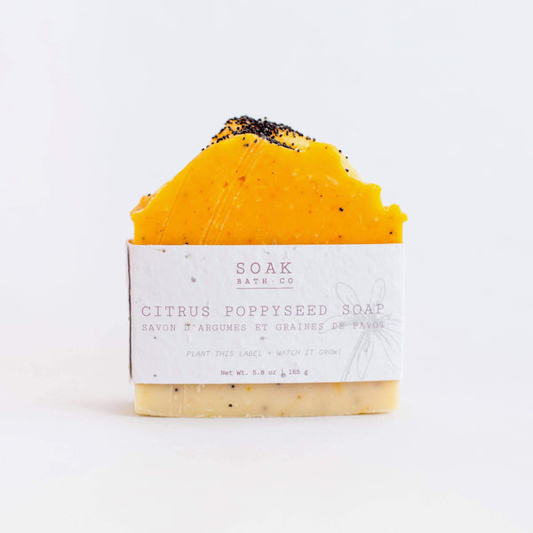 SOAK Bath Co. - Citrus Poppyseed Soap