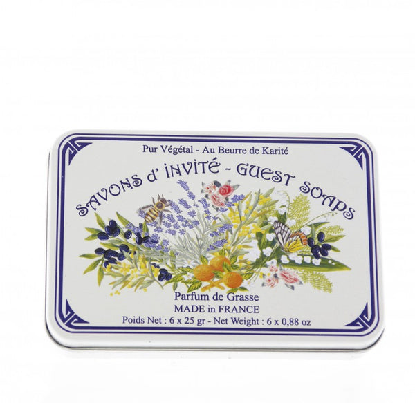Le Blanc Assorted Guest Soaps Mixed Bouquet Tin Box