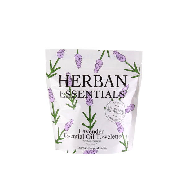Herban Essentials Essential Oil Towelettes - Lavender Mini-Bags