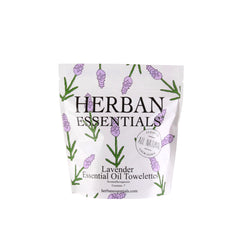 Herban Essentials Essential Oil Towlettes - Lavender Mini-Bags