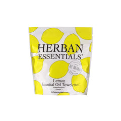 Herban Essentials Essential Oil Towelettes - Lemon Mini-Bags