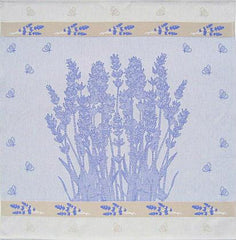 European Tea Towel - Lavender Bees Square