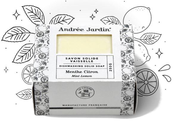 Andrée Jardin Solid Dish Washing Soap Lemon Mint