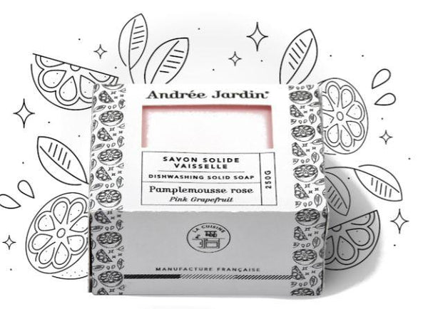 Andrée Jardin Solid Dish Washing Soap Grapefruit & Rose