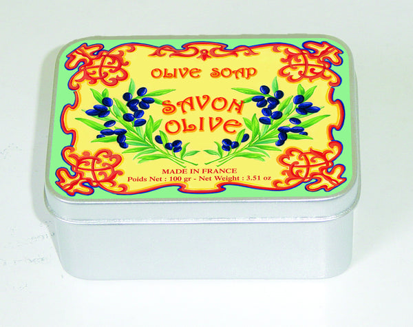 Le Blanc 100gm Soap Tin - Olive