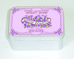 Le Blanc Violet 100gm Soap Tin