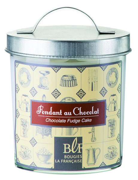 Bougies la Francaise Chocolate Fudge Cake Candle w/Galvanized Lid