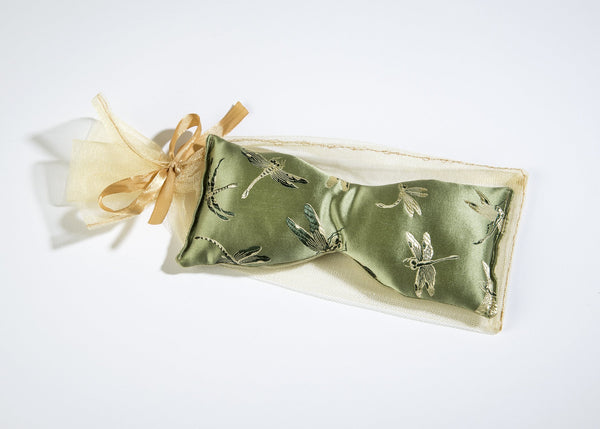 Sonoma Eucalyptus Dragonfly Silk Eye Pillow