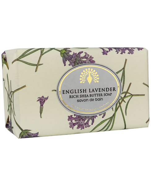 The English Soap Co. English Lavender Vintage Italian Wrapped Soap