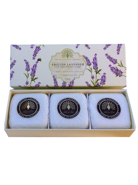 The English Soap Co. English Lavender Gift Box Hand Soap