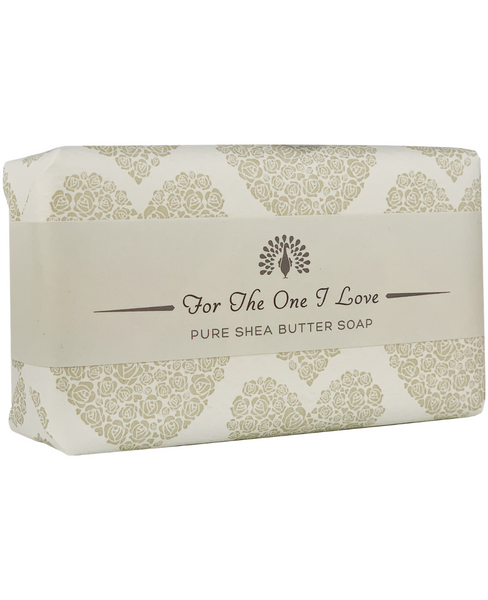 The English Soap Co. For The One I Love Grey Heart Occasion Soap