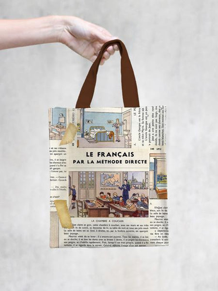 TokyoMilk Tote Bag - FRENCH LESSONS SMALL TOTE