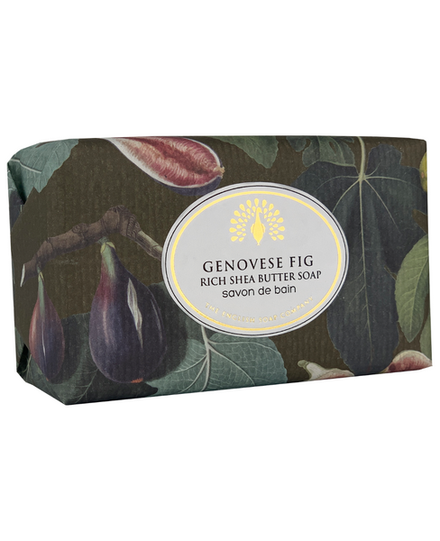 The English Soap Co. Genovese Fig Vintage Italian Wrapped Soap