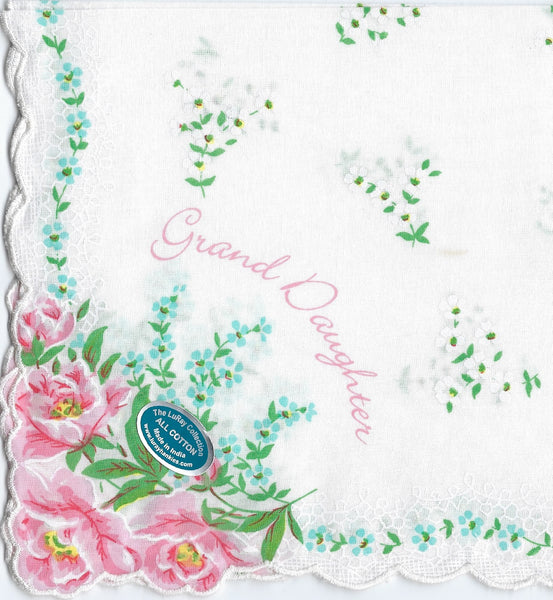 Vintage-Inspired Hanky - Grand Daughter Hanky