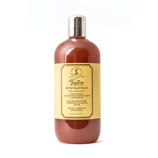 Taylor of Old Bond Street Sandalwood Luxury Moisturizing Bath & Shower Gel - 500ml