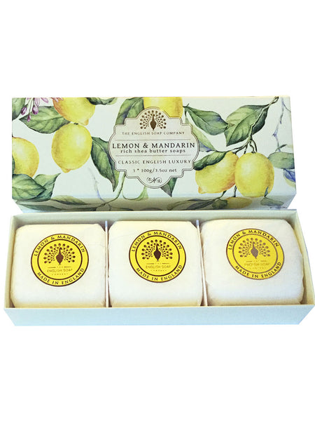 The English Soap Co. Lemon & Mandarin Gift Box Hand Soa