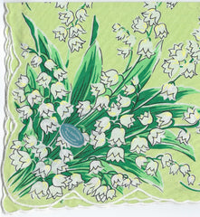Vintage-Inspired Hanky - Lily of the Valley Hanky