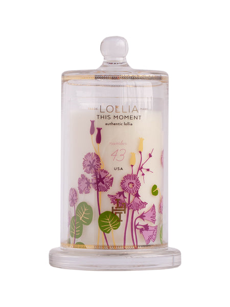 Lollia This Moment Collectible Limited Edition Glass Candle with Cloche