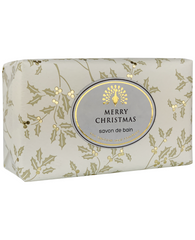 The English Soap Co. Merry Christmas Festive Italian Wrapped Soap