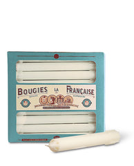 Bougies la Francaise Perforated Tapered Candles, pack of 20