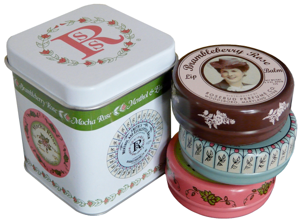 Smith's Rosebud Luscious Layers of Lip Balm Tins (three 0.8 oz tins)