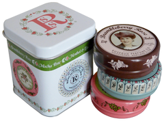Smith's Rosebud Luscious Layers of Lip Balm Tins (three 0.8 oz tins) - Hampton Court Essential Luxuries
