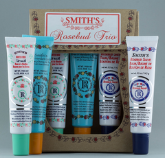 Smith's Rosebud Lip Balm Trio (three 0.5 oz tubes) - Hampton Court Essential Luxuries