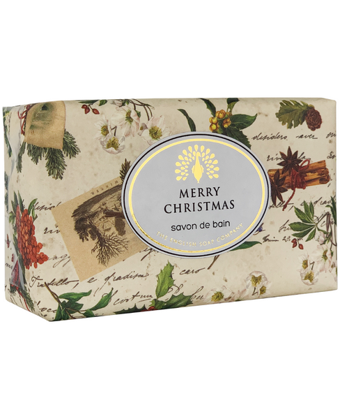 The English Soap Co. Christmas Robin & Holly Vintage Italian Wrapped Soap