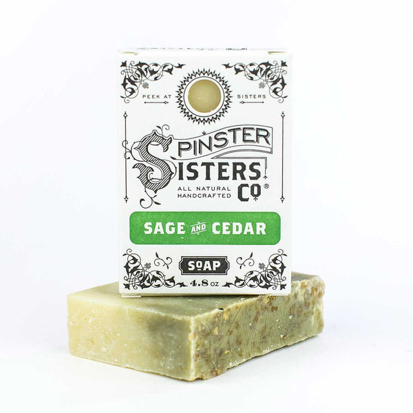 Spinster Sisters Bath Soap - Sage & Cedar with Oatmeal