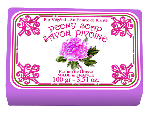 Le Blanc Peony Wrapped Soap