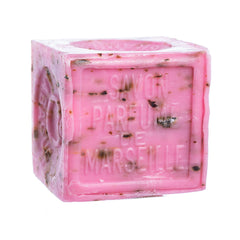 French Soaps Savon de Marseille with Crushed Flowers - Rose