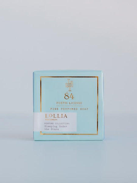 Lollia Poetic License Sleeping Under the Stars  Wrapped Bar Soap