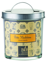 Bougies la Francaise Sweet Muffin Candle w/Galvanized Lid