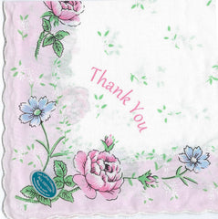 Vintage-Inspired Hanky - Thank You Hanky