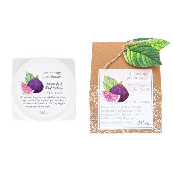The Cottage Greenhouse Violette Fig & Black Currant Fine Salt Scrub