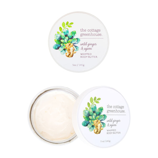 The Cottage Greenhouse Wild Ginger & Agave Whipped Body Butter