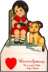 Valentine Greeting Card -To a Good Little Boy